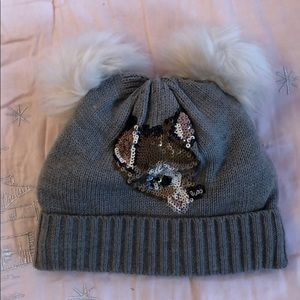 Baby Gap Disney Bambi beanie with pompoms